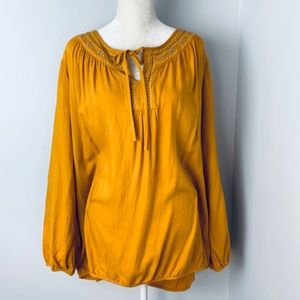 Lane Bryant long sleeve blouse top size 26